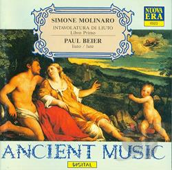 Molinario, S. - Ancient Music - Molinaro: Intavolatura di Liuto / Beier CD Cover Art