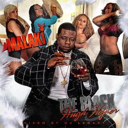 Malaki - Black Hugh Hefner CD Cover Art