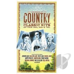 Legends of Country: Classic Hits from the '50s, '60s & '70s CD Cover Art