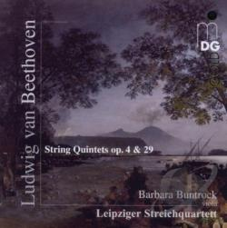 Beethoven / Buntrock / Leipzig String Quartet - Beethoven: String Quintets Op. 4 & 29 CD Cover Art