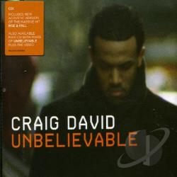 David, Craig - Unbelievable PT. 1 CD Cover Art