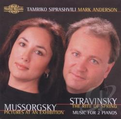 Anderson, M / Siprashvili: pno - Mussorgsky: Pictures at an Exhibition; Stravinsky: The Rite of Spring CD Cover Art