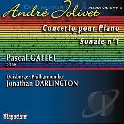 Duisburger Philharmoniker / Gallet / Jolivet - Andre Jolivet: Concerto pour Piano; Sonate No. 1 CD Cover Art