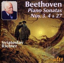 Beethoven / Richter - Beethoven: Piano Sonatas Nos. 3, 4, 27 CD Cover Art