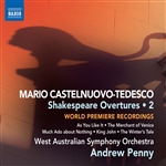 Castelnuovo-Tedesco / Penny / Waso - Castelnuovo - Tedesco: Shakespeare Overtures, Vol. 2 CD Cover Art