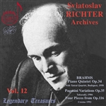 Richter, Sviatoslav: pno - Sviatoslav Richter Archives, Vol. 12 CD Cover Art
