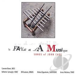 Cartwright / Cartwright, Katharine / Oppenheim - La Faute de la Musique: Songs of John Cage CD Cover Art
