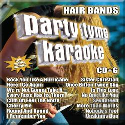 Karaoke - Party Tyme Karaoke - Hair Bands CD Cover Art