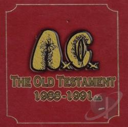 AC / Anal Cunt - Old Testament 1988-1991 CD Cover Art