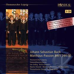 Bach, Johann Sebastian / Biller / Selbig / Thomanerchor Leipzig - Bach: Matthaus-Passion CD Cover Art