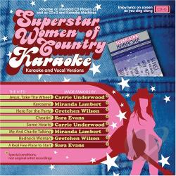 Karaoke - Superstar Women of Country Karaoke CD Cover Art