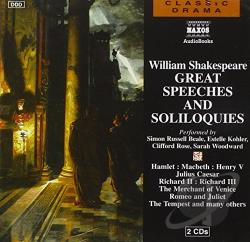 William Shakespeare: Great Speeches And Soliloquies CD Cover Art