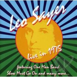 Sayer, Leo - Live in 1975 CD Cover Art