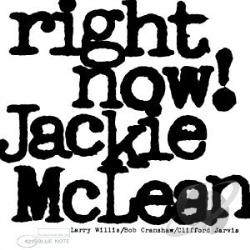 McLean, Jackie - Right Now CD Cover Art