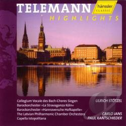 Telemann - Telemann Highlights CD Cover Art