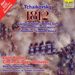 Cinp / Kiev Sym Choir / Kunzel / Tchaikovsky - Tchaikovsky: 1812 Overture & Other Orchestral Works CD Cover Art