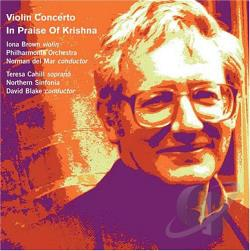 Blake / Brown / Cahill / Del Mar / PAO - Violin Concerto In Praise Of Krishna CD Cover Art