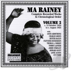 Rainey, Ma - Complete Recorded Works In Chronological Order: Volume 2: October 1924 to August 1925. CD Cover Art