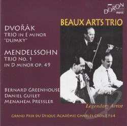 Beaux Arts Trio / Dvorak / Mendelssohn - Dvorak: Trio in E minor Dumky; Mendelssohn: Trio No. 1 in D minor, Op. 49 CD Cover Art