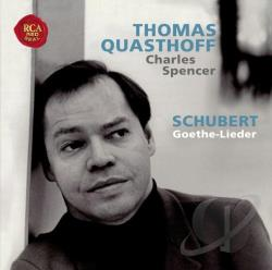 Quasthoff, Thomas - Schubert: Goethe-Lieder CD Cover Art