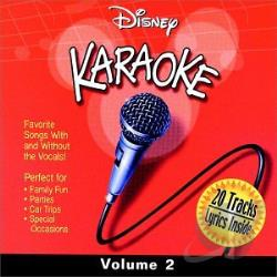 Karaoke - Disney Karaoke, Vol. 2 CD Cover Art