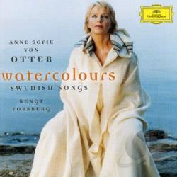 Von Otter, Anne Sofie - Watercolours: Swedish Songs CD Cover Art