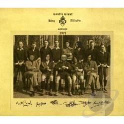 Gentle Giant - King Alfreds College 1971 CD Cover Art