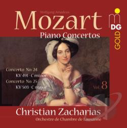 Mozart / Zacharias - Mozart: Piano Concertos, Vol. 8 SA Cover Art
