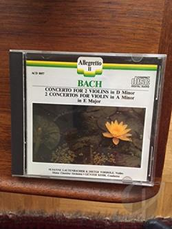 Kehr / Mainz Co - Bach: Violin Concertos, Concerto for 2 Violins /Lautenbacher CD Cover Art