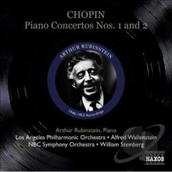Rubinstein, Arthur - Chopin: Piano Concertos Nos. 1 & 2 CD Cover Art
