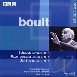 Boult / Phil Orch / Ravel / Schubert / Sibelius - Boult: Schubert Symphony No. 8; Ravel: Dahpnis et Chloe Suite No. 2 CD Cover Art