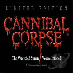 Cannibal Corpse - Wretched Spawn/Worm Infested CD Cover Art