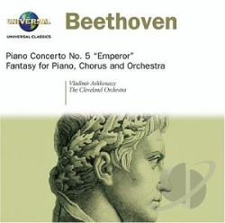 Ashkenazy, Vladimir - Beethoven: Piano Concerto No. 5 Emperor; Fantasy for Piano, Chorus and Orchestra CD Cover Art