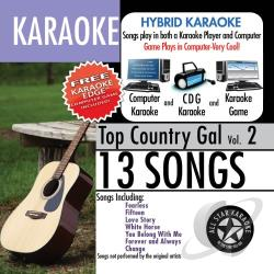 All Star Karaoke - Karaoke: Top Country Gal with Karaoke Edge CD Cover Art