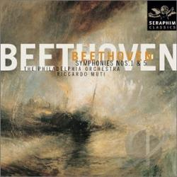 Beethoven / Muti / Phl - Beethoven: Symphonies Nos. 1 & 5 CD Cover Art