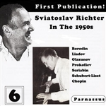 Richter, Sviatoslav - Sviatoslav Richter in the 1950s, Vol. 6 CD Cover Art