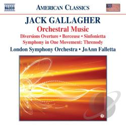 Falletta / Gallagher / Lso - Jack Gallagher: Orchestral Music CD Cover Art