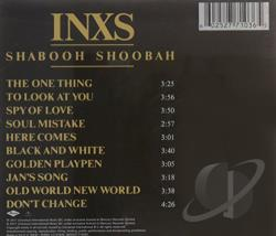 INXS - Shabooh Shoobah CD Cover Art