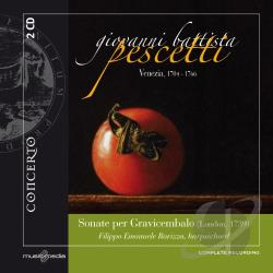 Pescetti / Ravizza - Giovanni Battista Pescetti: Sonate per Gravicembalo CD Cover Art