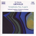 Arnold, M. / Nat'L Sym Orch Of Ireland / Penny - Arnold: Symphonies Nos. 5 & 6 CD Cover Art