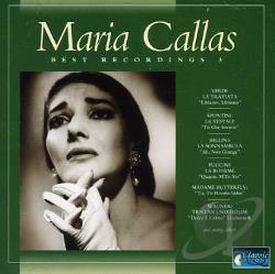 Callas, Maria - Vol. 3 - Best Recording CD Cover Art