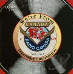 We're from Canada, Vol. 1 CD Cover Art