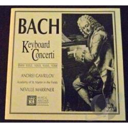 Gavrilov, A / Marriner - Bach: Keyboard Concertos / Andrei Gavrilov CD Cover Art