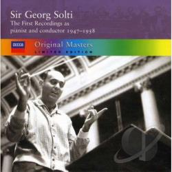 Solti, George - First Recordings as pianist and conductor, 1947-1958 CD Cover Art