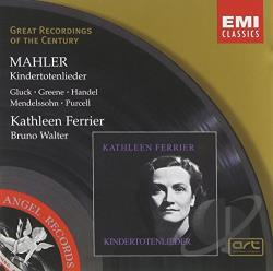 Ferrier / Walter - Mahler: Kindertotenlieder CD Cover Art