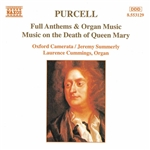Cummings / Purcell / Summerly - Purcell: Full Anthems & Organ Music CD Cover Art