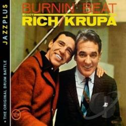 Krupa, Gene / Rich, Buddy - Burnin' Beat/The Original Drum Battle CD Cover Art