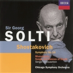 Solti, Georg - Shostakovich: Symphony No. 15; Mussorgsky: Songs And Dances Of Death CD Cover Art
