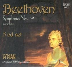 Beethoven - Beethoven: Symphonies Nos. 1-9 CD Cover Art