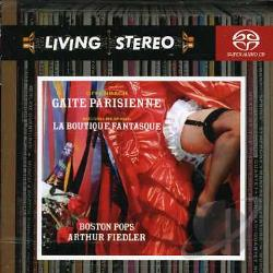 B.S.O. / Fiedler / Offenbach - Offenbach: Gaite Parisienne; Rossini-Respighi: La Boutique Fantasque CD Cover Art